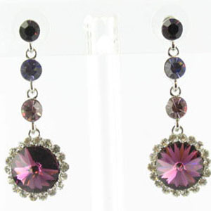 Jewelry by HH Womens JE-X001831 amethyst Beaded   Earrings Jewelry