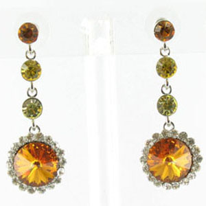 Jewelry by HH Womens JE-X001831 topaz Beaded   Earrings Jewelry