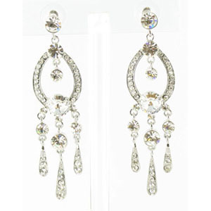 Jewelry by HH Womens JE-X001913 clear Beaded   Earrings Jewelry