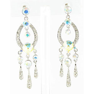 Jewelry by HH Womens JE-X001913 silver Beaded   Earrings Jewelry