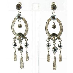 Jewelry by HH Womens JE-X001913 black hermatite Beaded   Earrings Jewelry