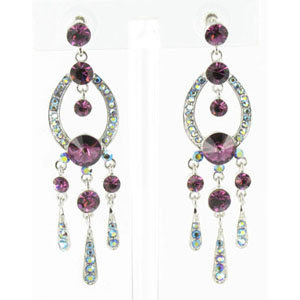 Jewelry by HH Womens JE-X001913 purple Beaded   Earrings Jewelry