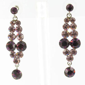Jewelry by HH Womens JE-X001928 amethyst Beaded   Earrings Jewelry