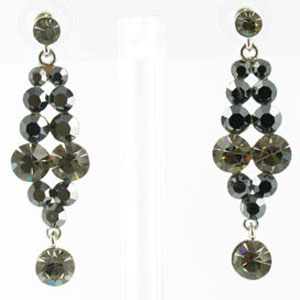 Jewelry by HH Womens JE-X001928 black diamond Beaded   Earrings Jewelry