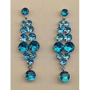 Jewelry by HH Womens JE-X001928 blue Beaded   Earrings Jewelry