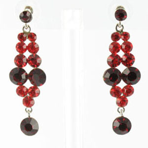 Jewelry by HH Womens JE-X001928 siam red Beaded   Earrings Jewelry