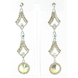 Jewelry by HH Womens JE-X002126 ab clear Beaded   Earrings Jewelry