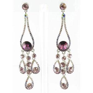 Jewelry by HH Womens JE-X002737 amethyst Beaded   Earrings Jewelry