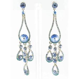 Jewelry by HH Womens JE-X002737 aqua Beaded   Earrings Jewelry