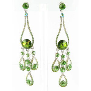 Jewelry by HH Womens JE-X002737 olive Beaded   Earrings Jewelry