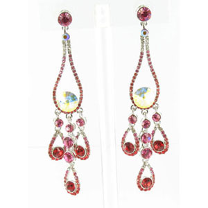 Jewelry by HH Womens JE-X002737 siam red Beaded   Earrings Jewelry