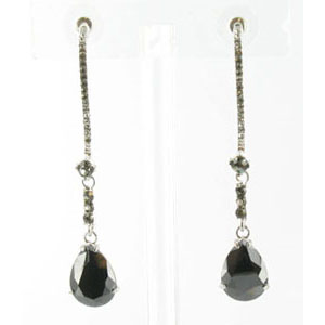 Jewelry by HH Womens JE-X003116 black diamond Beaded   Earrings Jewelry