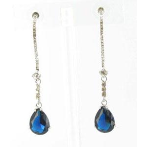 Jewelry by HH Womens JE-X003116 blue Beaded   Earrings Jewelry