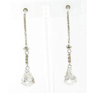Jewelry by HH Womens JE-X003116 clear silver Beaded   Earrings Jewelry