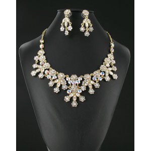 Jewelry by HH Womens NS-H001852 gold Beaded   Necklaces Jewelry