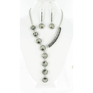 Jewelry by HH Womens NS-H003146 black Beaded   Necklaces Jewelry