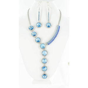 Jewelry by HH Womens NS-H003146 blue Beaded   Necklaces Jewelry