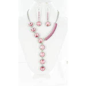 Jewelry by HH Womens NS-H003146 pink Beaded   Necklaces Jewelry