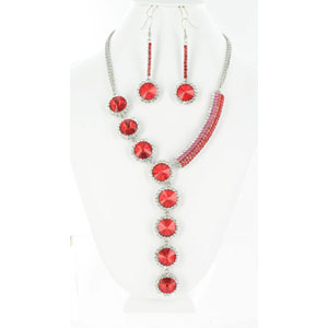 Jewelry by HH Womens NS-H003146 red Beaded   Necklaces Jewelry