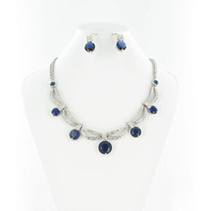 Jewelry by HH Womens NS-H003813 blue Beaded   Necklaces Jewelry
