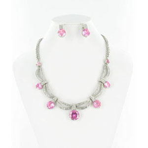 Jewelry by HH Womens NS-H003813 pink Beaded   Necklaces Jewelry
