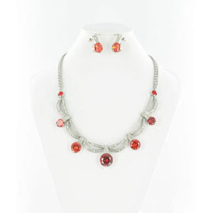 Jewelry by HH Womens NS-H003813 red Beaded   Necklaces Jewelry
