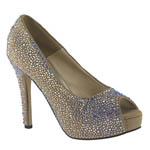 Johnathan Kayne Womens Glitterbomb Taupe Synthetic Sandals Pageant Shoes