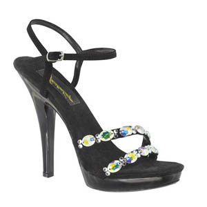 Johnathan Kayne Womens Jet Austria Black Synthetic Sandals Pageant Shoes