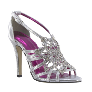 Johnathan Kayne Womens Stella Silver Metalllic Sandals Pageant Shoes