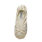 Touch Ups Womens Molly Ivory Spandex Ballet Wedding Shoes