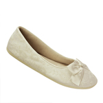 Touch Ups Womens Sheila Ivory Fabric/Lace Ballet Wedding Shoes