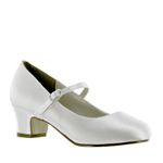 Touch Ups Mens Tabitha White Satin Pumps Wedding Shoes
