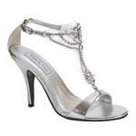 Touch Ups Womens Princess Silver Beaded Sandals Prom and Evening Shoes
