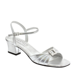 Touch Ups Womens Shala Silver Satin Sandals Wedding Shoes