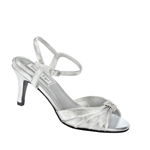 Touch Ups Womens Asher Silver Satin Sandals Wedding Shoes