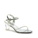 Touch Ups Womens Carmella Silver Beaded Sandals Prom and Evening Shoes