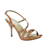 Touch Ups Womens Fortuna Bronze Glitter Sandals Prom and Evening Shoes