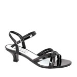 Touch Ups Womens Melanie Black Glitter Sandals Prom and Evening Shoes