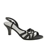 Touch Ups Womens Donetta Black Satin Sandals Wedding Shoes