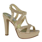 Touch Ups Womens Queenie Nude Synthetic Sandals Prom and Evening Shoes