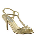 Touch Ups Womens Fran Gold Metalllic Sandals Prom and Evening Shoes
