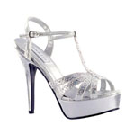 Touch Ups Womens April Silver Metalllic Platforms Prom and Evening Shoes