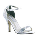 Touch Ups Womens Rena White Satin Platforms Prom and Evening Shoes