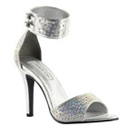 Touch Ups Womens Jupiter Silver Metalllic Platforms Prom and Evening Shoes