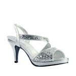 Touch Ups Womens Reagan Silver Metalllic Platforms Prom and Evening Shoes
