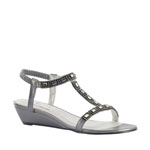 Touch Ups Womens Jazz Pewter Metalllic Platforms Prom and Evening Shoes