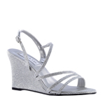 Touch Ups Womens Paige Silver Synthetic Sandals Prom and Evening Shoes