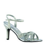 Touch Ups Womens Dulce Silver Synthetic Sandals Prom and Evening Shoes