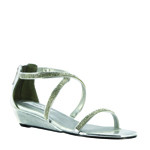 Touch Ups Womens Moriah Silver Synthetic Sandals Prom and Evening Shoes