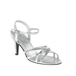 Touch Ups Womens Jamie Silver Synthetic Sandals Prom and Evening Shoes